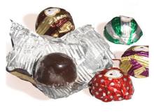 Corrugated Aluminium Foil Packaging Chocolate Packing Embossed Paper